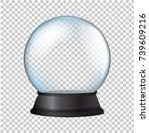 snow globe isolated in... | Shutterstock .eps vector #739609216