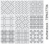 floor material tiles vector... | Shutterstock .eps vector #739617736
