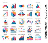 business data graphs. vector... | Shutterstock .eps vector #739617925