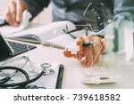 healthcare costs and fees... | Shutterstock . vector #739618582