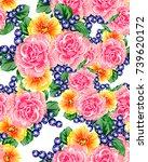 abstract elegance seamless... | Shutterstock .eps vector #739620172