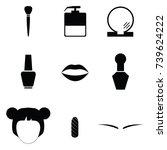 beauty icon set   Shutterstock .eps vector #739624222