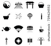 chinese icon set | Shutterstock .eps vector #739624552