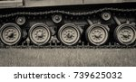 heavy old tank close up to... | Shutterstock . vector #739625032