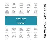 line icons set. school pack....