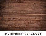 ustic plank wood floorboard... | Shutterstock . vector #739627885