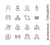 user icon set. collection of... | Shutterstock .eps vector #739628395