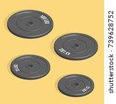 sports equipment item. weight... | Shutterstock .eps vector #739628752