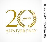 20 years old luxurious logotype.... | Shutterstock .eps vector #739629628