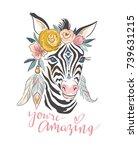 vector lettering card. hand... | Shutterstock .eps vector #739631215