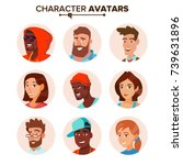 people characters avatars set... | Shutterstock .eps vector #739631896