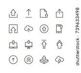 upload icon set. collection of...