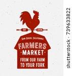 farmers market vector... | Shutterstock .eps vector #739633822