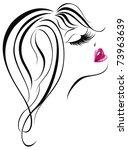 sexy woman face. vector... | Shutterstock .eps vector #73963639