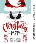 christmas party invitation....   Shutterstock .eps vector #739637416