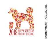 vector yellow dog for the... | Shutterstock .eps vector #739637806