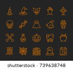 halloween icons   monoline...   Shutterstock .eps vector #739638748