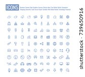 icons business meetings clouds... | Shutterstock .eps vector #739650916