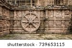 intricate carvings on a stone... | Shutterstock . vector #739653115