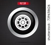 allow wheel icon | Shutterstock .eps vector #739658626