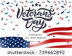 vector illustration. veterans... | Shutterstock .eps vector #739662892