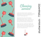 cleaning service banner or... | Shutterstock .eps vector #739664452