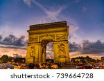 paris  france   october 05 ... | Shutterstock . vector #739664728