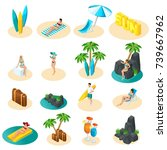 isometrics set of icons for the ... | Shutterstock .eps vector #739667962