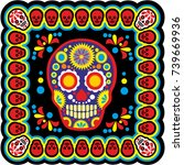 holy death  day of the dead ... | Shutterstock .eps vector #739669936