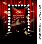anniversary celebration vip...   Shutterstock .eps vector #739670125