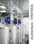 electric motors on steel tanks...   Shutterstock . vector #739670326