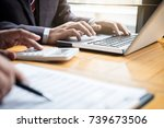 co working conference  business ... | Shutterstock . vector #739673506