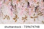 Stock photo flower background backdrop wedding decoration rose pattern 739674748