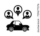 car sharing icon vector... | Shutterstock .eps vector #739677376