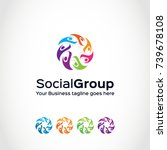 this is a human group logo used ... | Shutterstock .eps vector #739678108