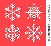 snowflakes set vector... | Shutterstock .eps vector #739679182
