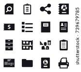 16 vector icon set   search...   Shutterstock .eps vector #739679785