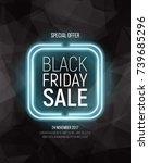 black friday sale banner on... | Shutterstock .eps vector #739685296