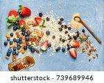 ingredients for cooking healthy ... | Shutterstock . vector #739689946