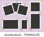 retro realistic vector photo... | Shutterstock .eps vector #739696135