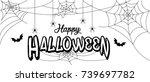 happy halloween  vector... | Shutterstock .eps vector #739697782