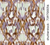 seamless ikat pattern. abstract ... | Shutterstock .eps vector #739700056