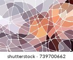 abstract geometric mosaic... | Shutterstock .eps vector #739700662
