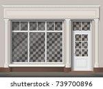 traditional small shop facade... | Shutterstock .eps vector #739700896
