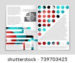 abstract vector layout... | Shutterstock .eps vector #739703425