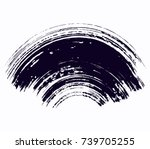 abstract black thick smear of... | Shutterstock .eps vector #739705255