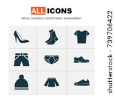 garment icons set. collection... | Shutterstock .eps vector #739706422