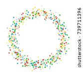 a small circular frame with... | Shutterstock .eps vector #739711396