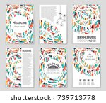 abstract vector layout... | Shutterstock .eps vector #739713778
