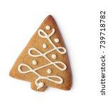 christmas gingerbread cookie... | Shutterstock . vector #739718782